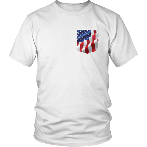 American Flag Pocket - USA - District Unisex Shirt