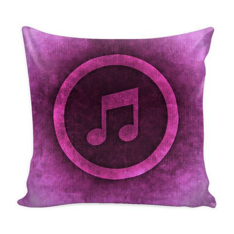Pillow Cover - Music Note with Color