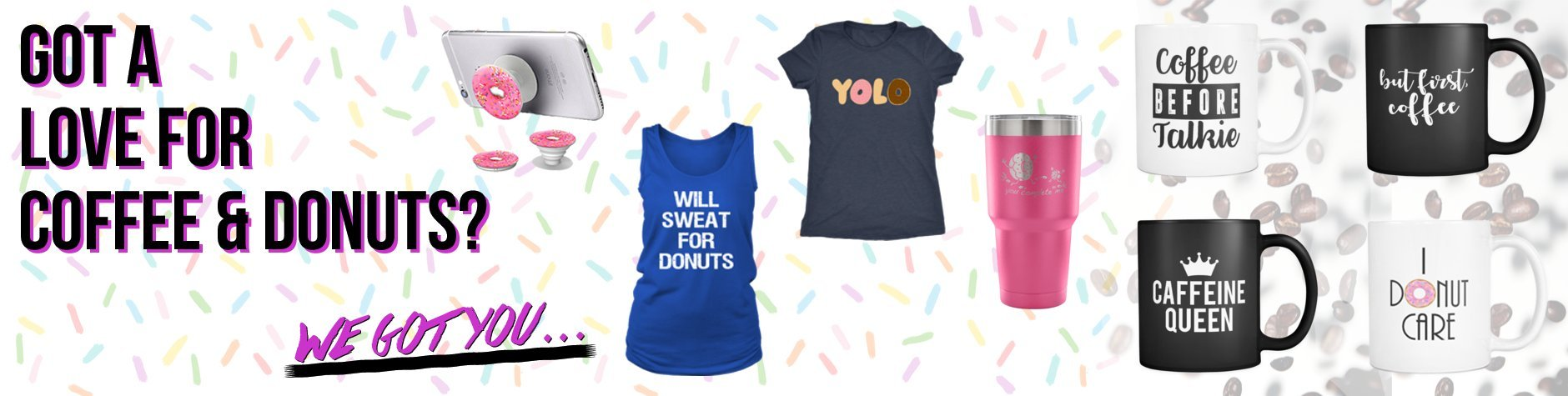Coffee and Donut Mugs tshirts accessories