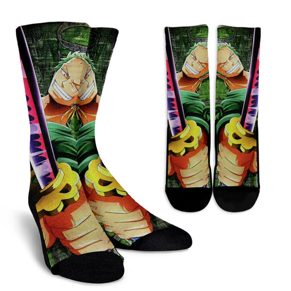 One Piece Roronoa Zoro Crew Socks