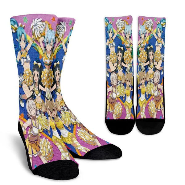 Team Girl Cheering Sword Art Online Crew Socks