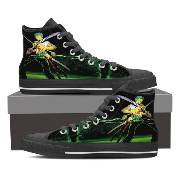Zoro Roronoa High Top Canvas Shoe