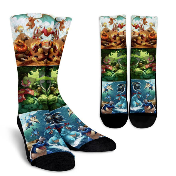 Pokemon Venusaur Charizard Crew Socks
