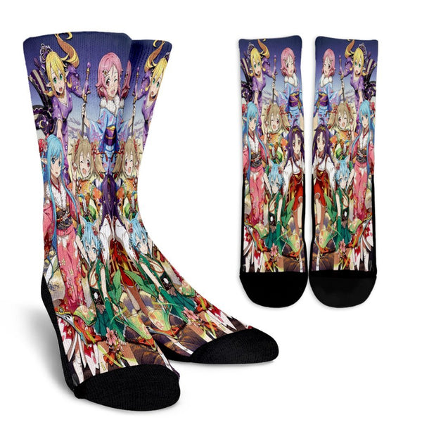 Team Girl Winter Clothes Sword Art Online Crew Socks