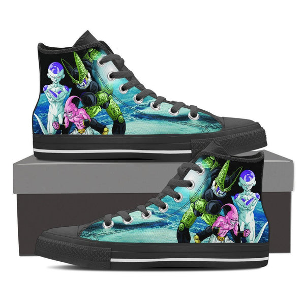 DBZ Cell Majin Buu Frieza High Top Canvas Shoe