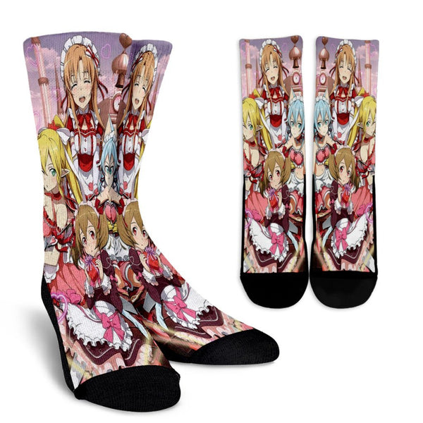 Team Girl Sword Art Online Crew Socks