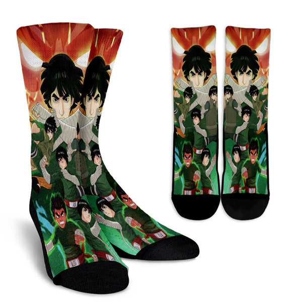 Rock Lee Crew Socks