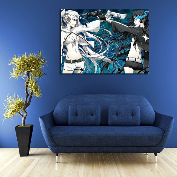 1 Panel Ao No Exorcist & Black Rock Shooter Wall Art Canvas