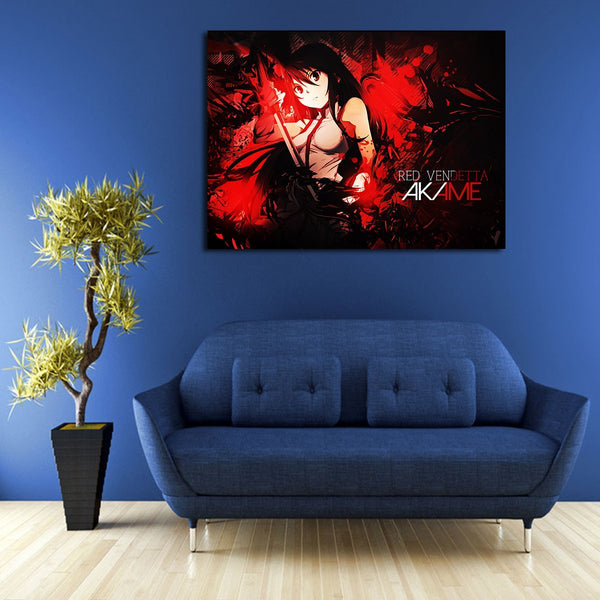 1 Panel Akame Redvendetta Wall Art Canvas