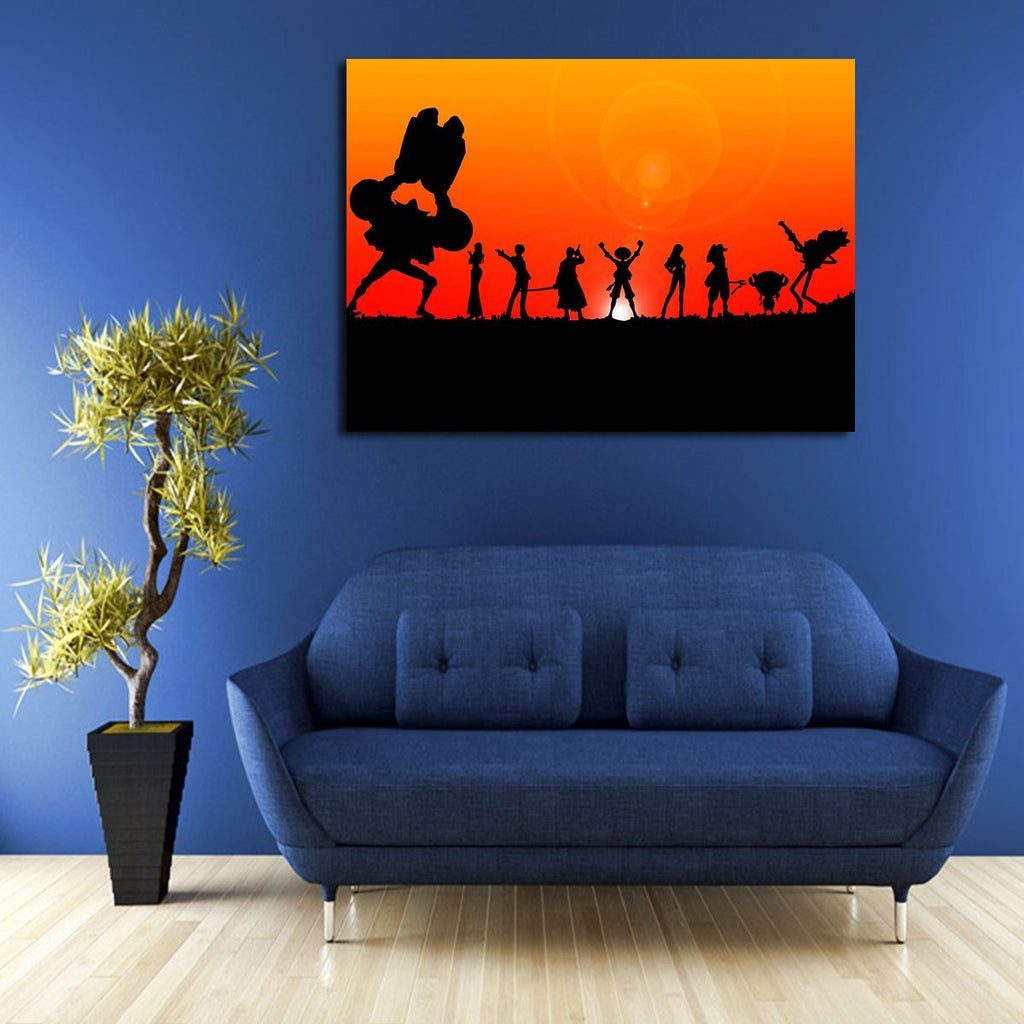 1 Panel One Piece Team Sunset Wall Art Canvas