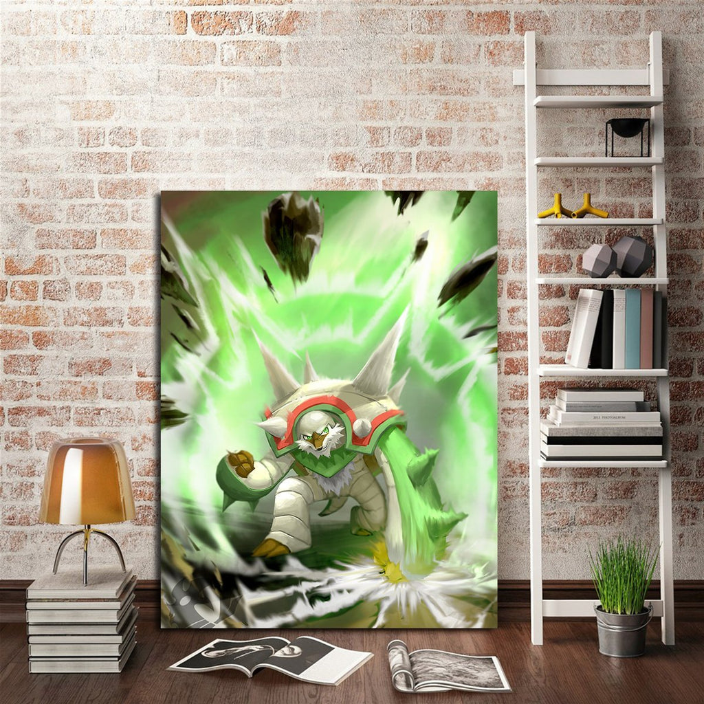 1 Panel Pokemon Chesnaught Wall Art Canvas