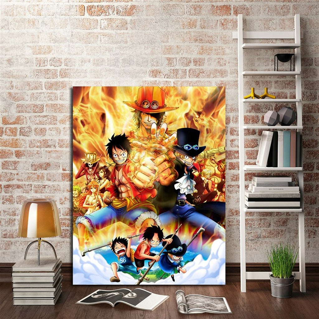 1 Panel Luffy Ace And Sabo Wall Art Canvas