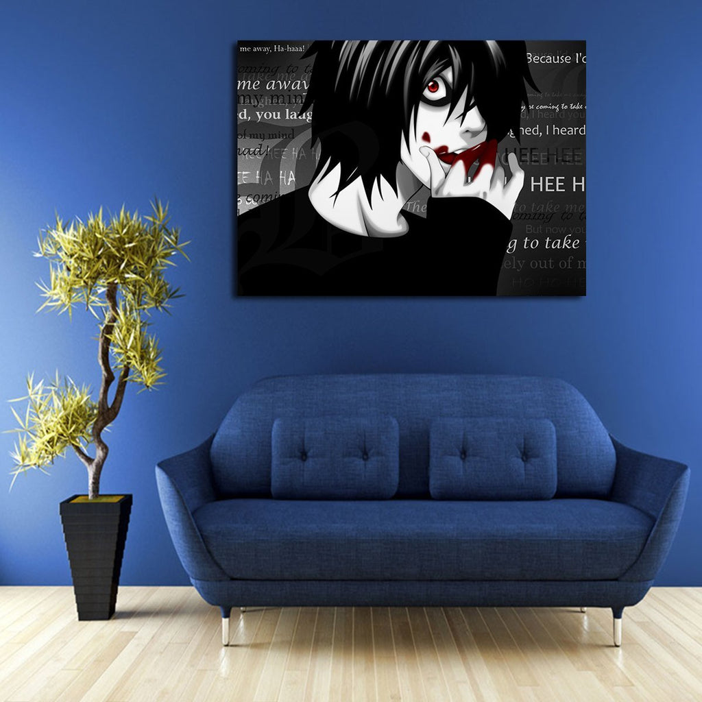 1 Panel L Death Note Gore Wall Art Canvas