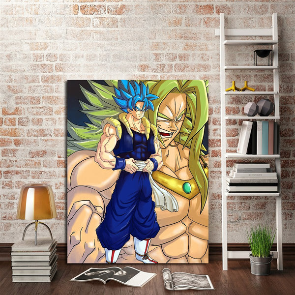 1 Panel DBZ Broly Face Wall Art Canvas