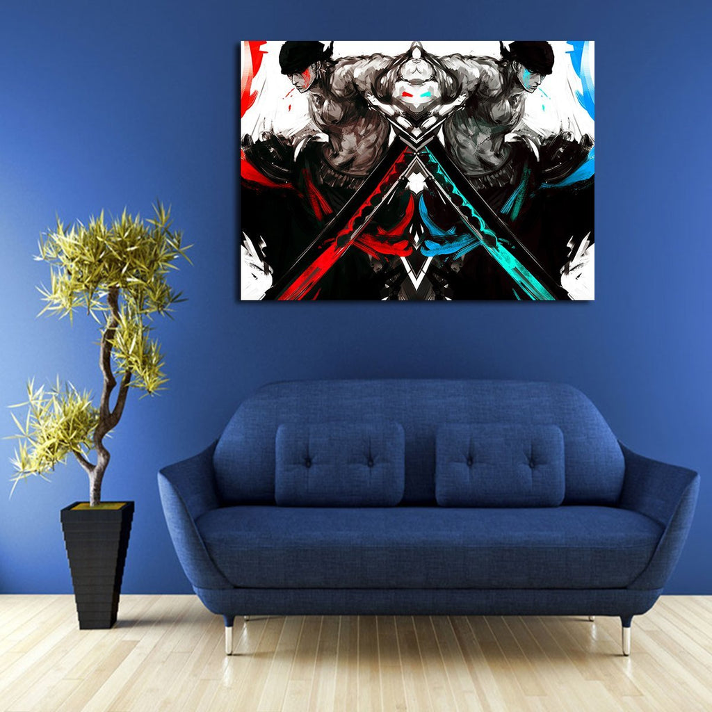 1 Panel One Piece Shanks Artwork Black Wall Art Canvas