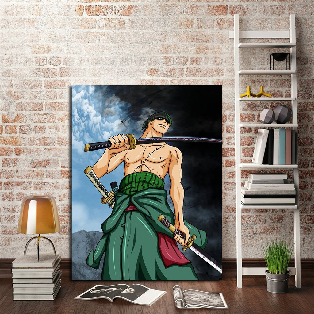 1 Panel One Piece Roronoa Zoro Green Wall Art Canvas