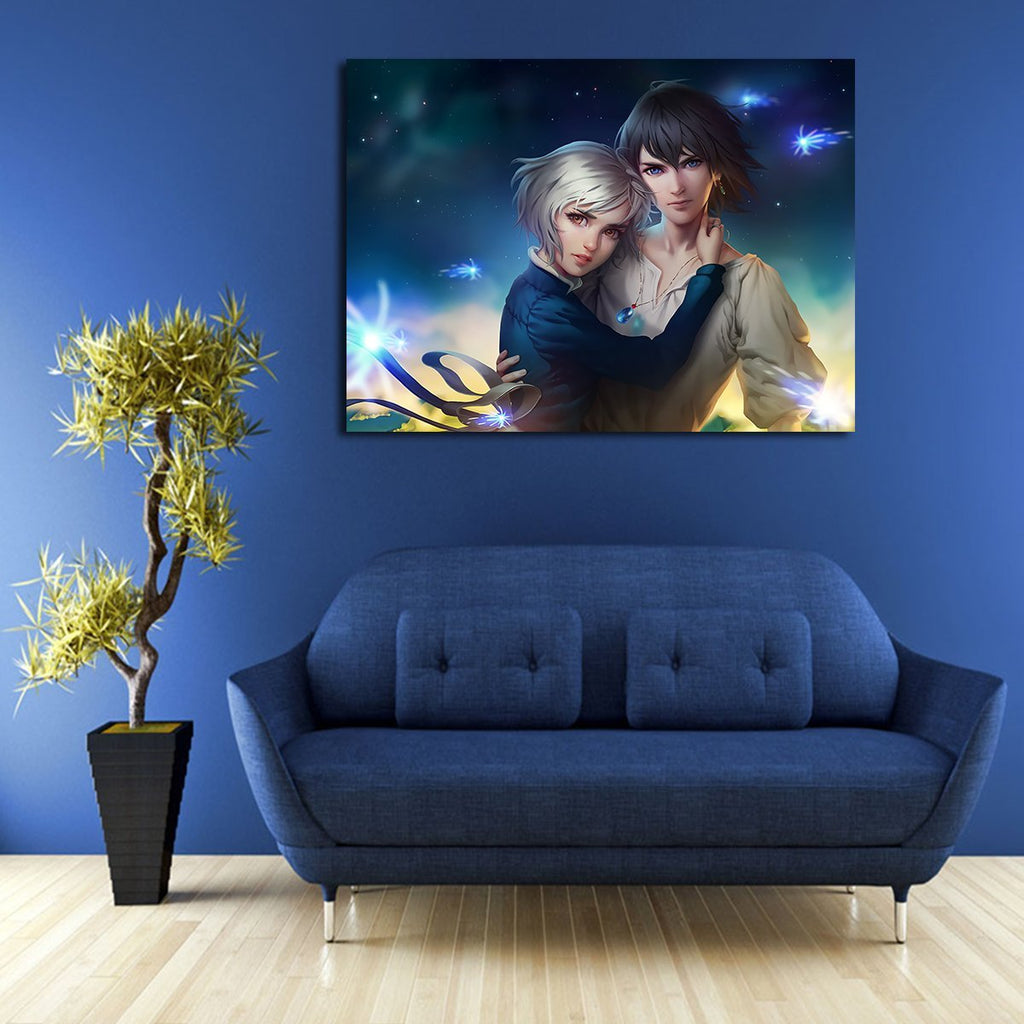 1 Panel Howl's Moving Castle Howl And Sophie Wall Art Canvas