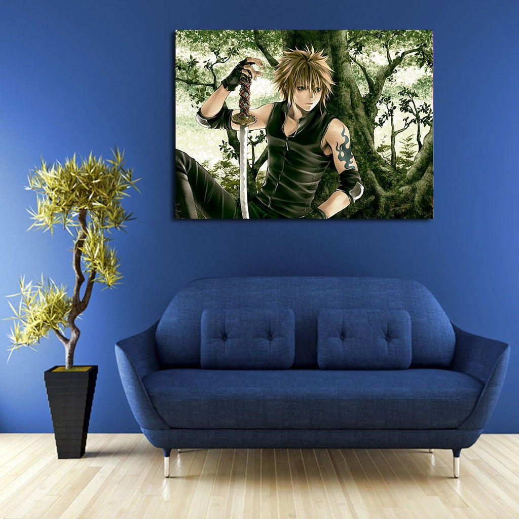 1 Panel Naruto Sits Under The Tree Wall Art Canvas