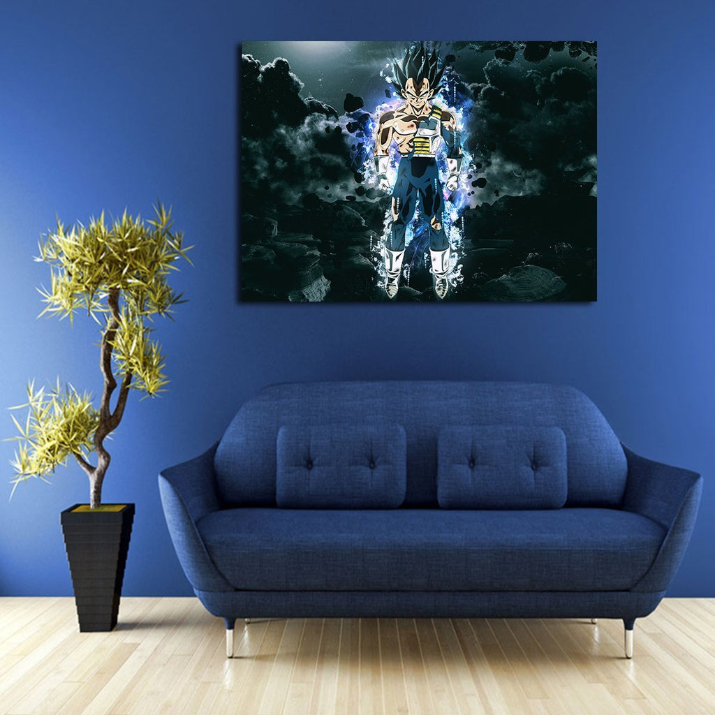 1 Panel Dragon Ball Vegeta Ultra Instinct Wall Art Canvas