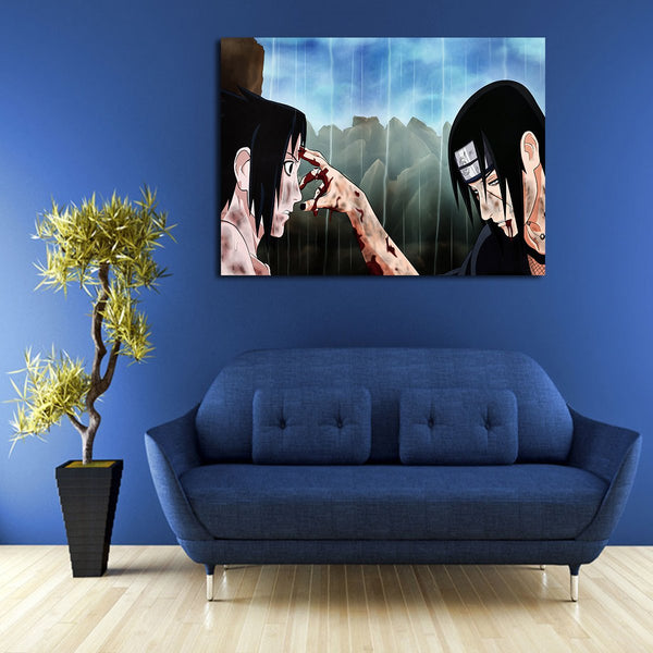1 Panel Itachi Uchiha And Sasuke Uchiha Wall Art Canvas