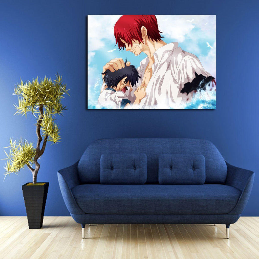 1 Panel One Piece Luffy And Shanks Wall Art Canvas