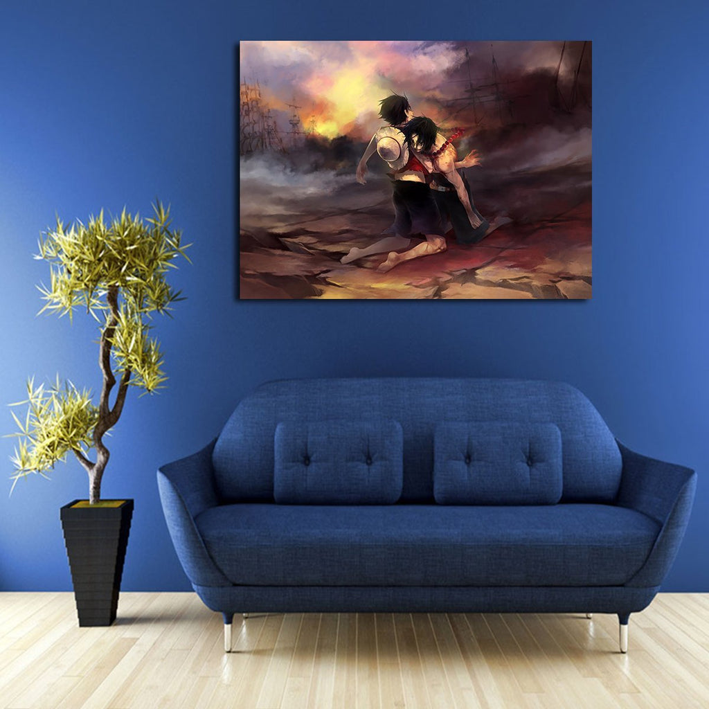 1 Panel One Piece Portgas D. Ace Die Wall Art Canvas