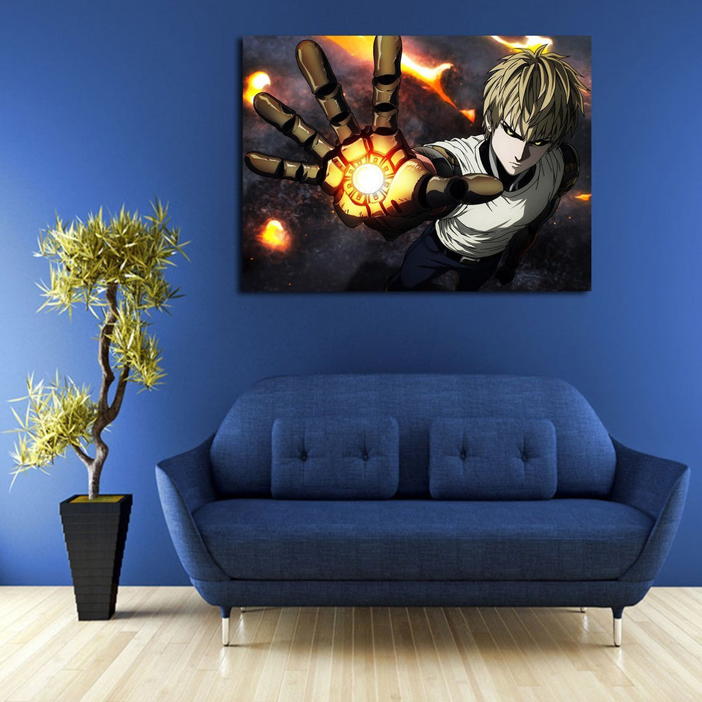 1 Panel One Punch Man Genos Wall Art Canvas