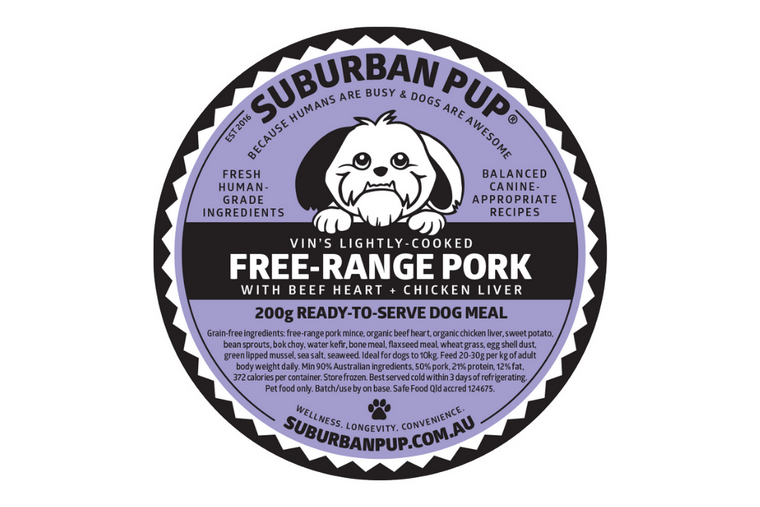 Free-range Pork (lightly-cooked, free-range)