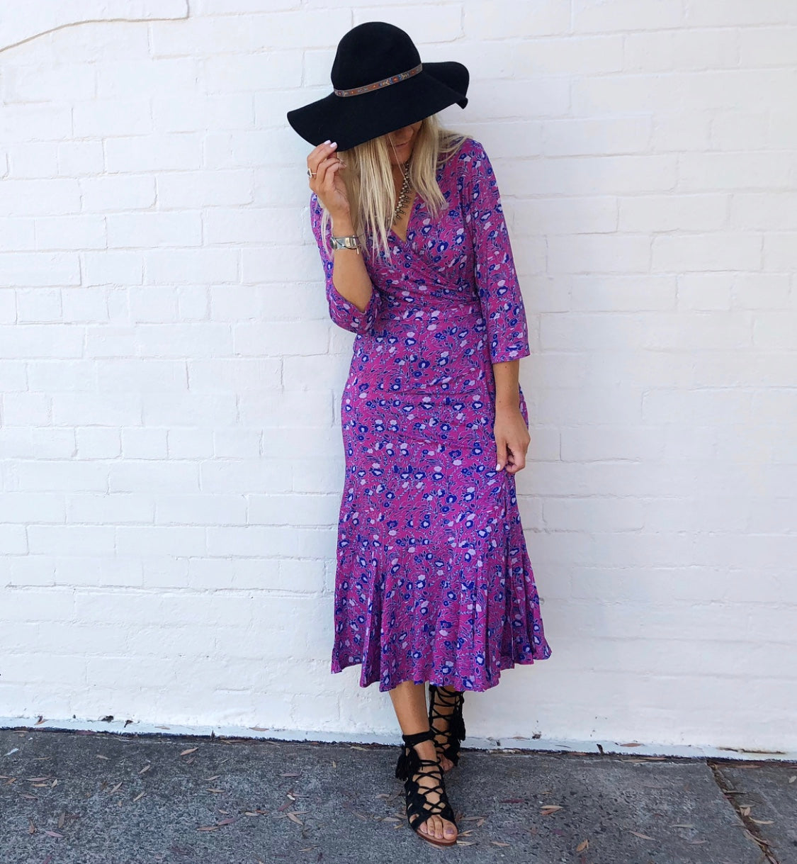 RUBY DAZE WRAP MAXI DRESS
