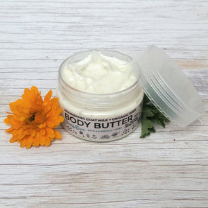 NOURISHING BODY BUTTER  - Made with Goat Milk + Shea Butter - 100ml