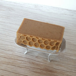 WRIGGLY TIN ENAMEL SOAP STAND
