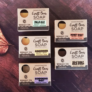 CRAFT BEER SOAP - Gingerbeer - with Lemongrass + Ginger