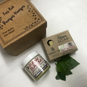 FUR KID PAMPER HAMPER -  PET WASH SOAP BAR + Paw Balm