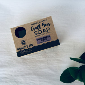 CRAFT BEER SOAP - Gunpowder Goat - Goat Milk, Guiness & Charcoal