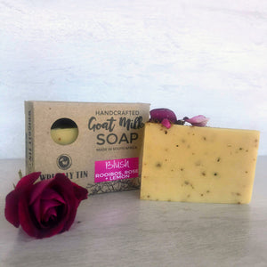 Goat Milk Soap with Rose Clay, Organic Rooibos Tea, Rose Clay,  Essential Oils of Rose, Lemon Verbena and Lavender.
