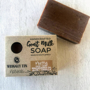 NUTTY (Face + Body Bar) - Aloe, Macadamia Nut Oil + Vanilla