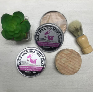 LADY GOAT MILK SHAVING SOAP - (Refill soap in tin only - excludes brush & large shaving tin) (NEW)