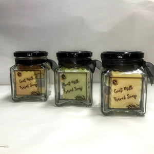 TRAVEL SOAP JARS - Mini travel or guest sized soaps in a jar (NEW)
