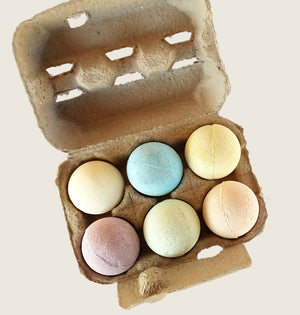 BATH FIZZIES EGG BOX - Box of Assorted Essential Oil Bath Fizzies