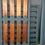 NW/35DD 30 mm diameter round cap on wooden / steel entrance gate