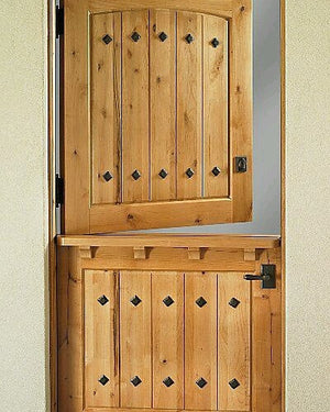 Farm style door featuring NW/66DD rivet head studs