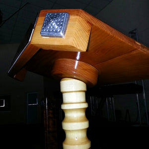 Decor studs used to customise a unique church lectern