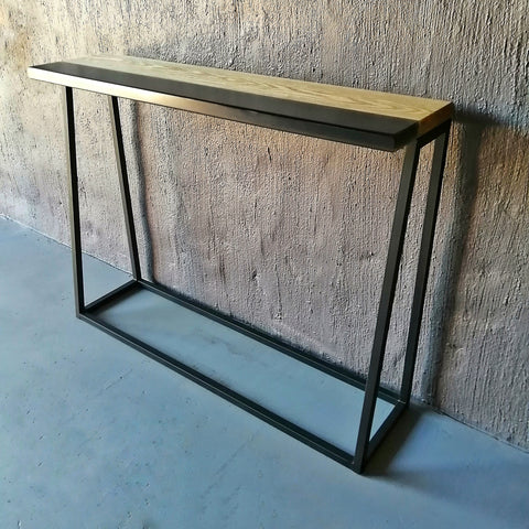 designer furniture, custom made epoxy and American Ash server / entry table. handmade, 1 of a kind interior decor