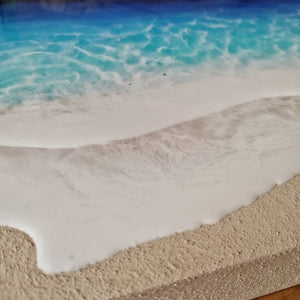 Resin art, mixed media, resin art, beach art, resin, epoxy, decor, wall art