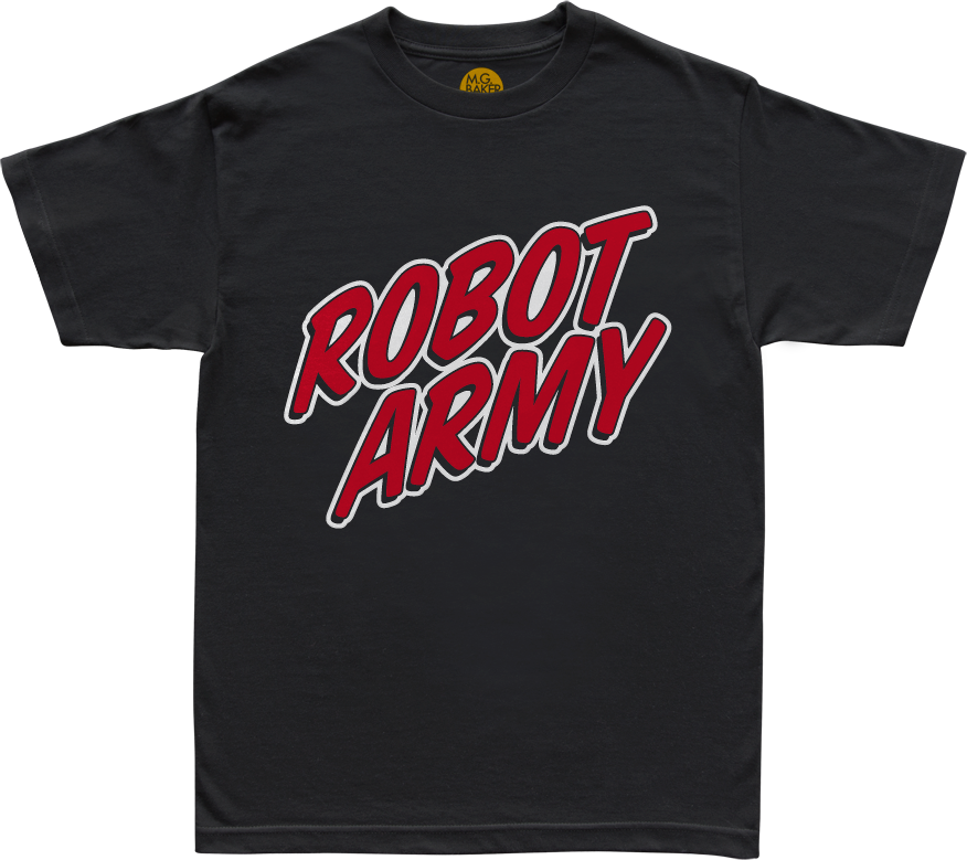 Robot Army Black Tee