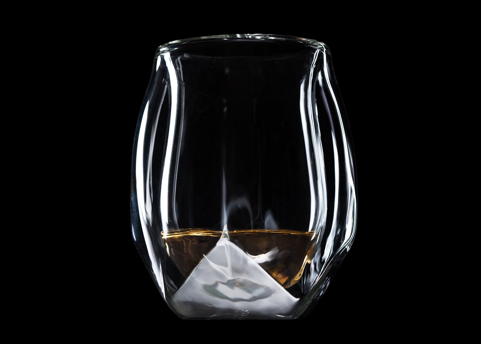 Norlan Whisky Glass,microfiber polishing cloth included Set of 2
