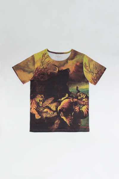 T-shirt: 'Boschbrand (Forest Fire)' by Raden Saleh
