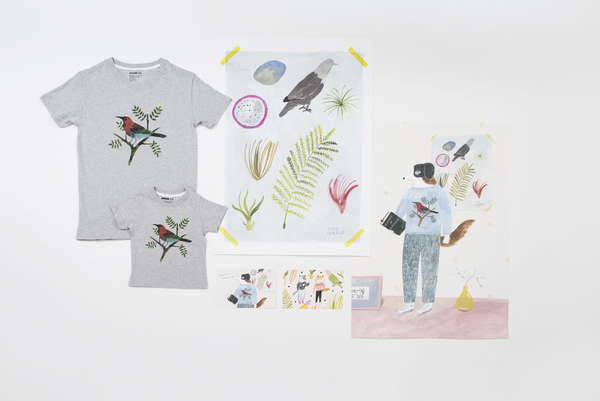 The Artist Project 1.0 - Aiko Fukawa Bird T-shirt