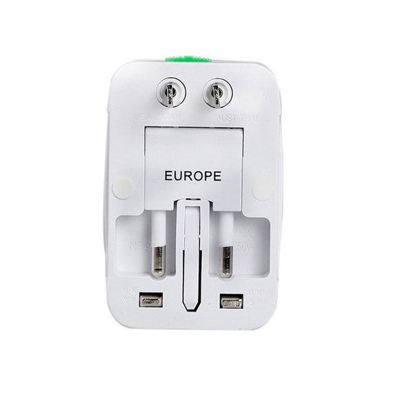 US to EU Europe & Universal AC Power Plug Worldwide Travel Adapter Converter NEW - eLynn Medical