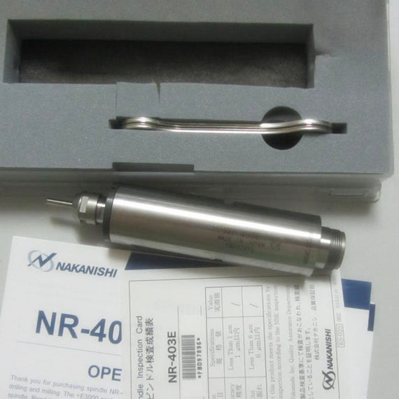 NSK Nakanishi NR-403E High Speed Spindle Drill Slitting Chamfering Grinding - eLynn Medical